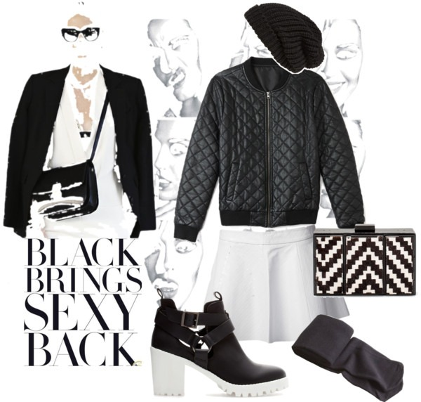 Black and White Casual  Look